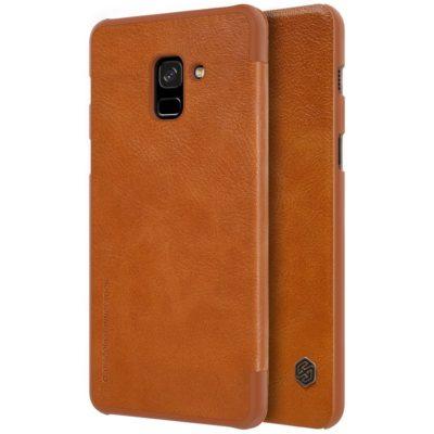 Samsung Galaxy A8 (2018) Kotelo Nillkin Qin Ruskea