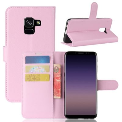 Samsung Galaxy A8 (2018) Suojakotelo Vaaleanpunainen