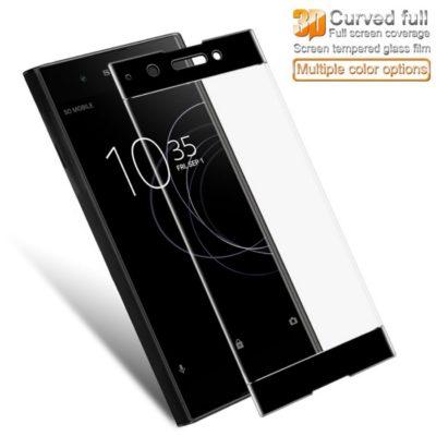 Sony Xperia XA1 Plus Täysin Peittävä Suojalasi Musta