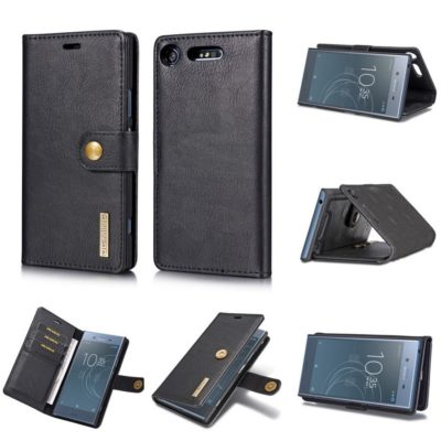 Sony Xperia XZ1 Nahkakotelo DG.MING Musta
