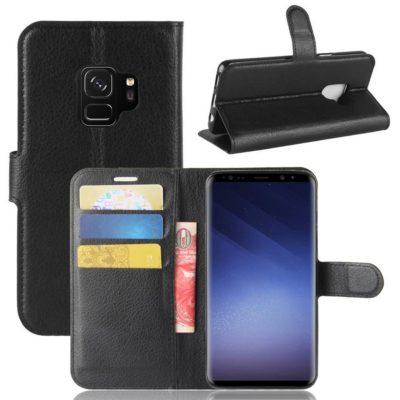 Samsung Galaxy S9 Kotelo Musta Lompakko