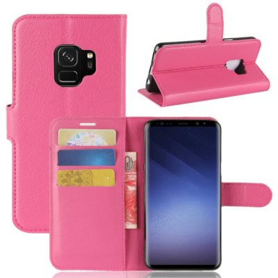 Samsung Galaxy S9 Kotelo Pinkki Lompakko