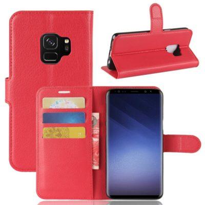 Samsung Galaxy S9 Kotelo Punainen Lompakko