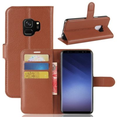 Samsung Galaxy S9 Kotelo Ruskea Lompakko
