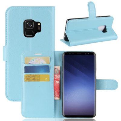 Samsung Galaxy S9 Kotelo Sininen Lompakko