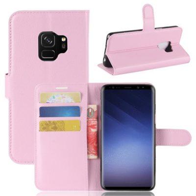 Samsung Galaxy S9 Kotelo Vaaleanpunainen Lompakko
