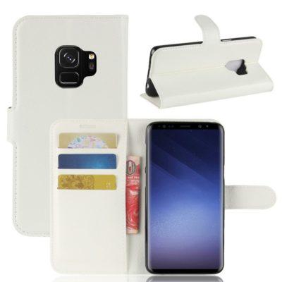 Samsung Galaxy S9 Kotelo Valkoinen Lompakko