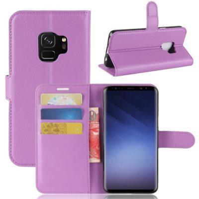 Samsung Galaxy S9 Kotelo Violetti Lompakko