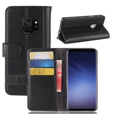 Samsung Galaxy S9 Suojakotelo Musta Nahka