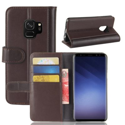 Samsung Galaxy S9 Suojakotelo Ruskea Nahka