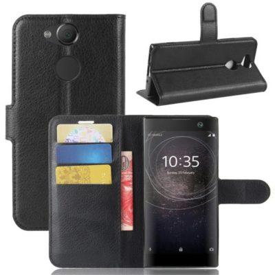 Sony Xperia XA2 Lompakkokotelo Musta