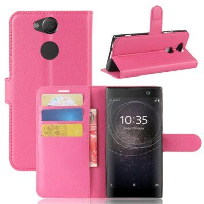 Sony Xperia XA2 Lompakkokotelo Pinkki