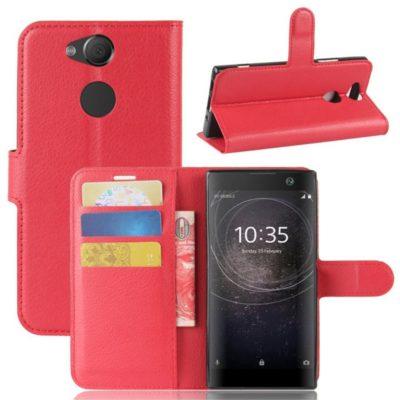 Sony Xperia XA2 Lompakkokotelo Punainen