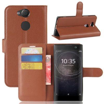 Sony Xperia XA2 Lompakkokotelo Ruskea