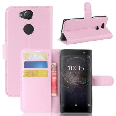 Sony Xperia XA2 Lompakkokotelo Vaaleanpunainen