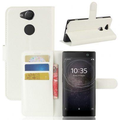 Sony Xperia XA2 Lompakkokotelo Valkoinen