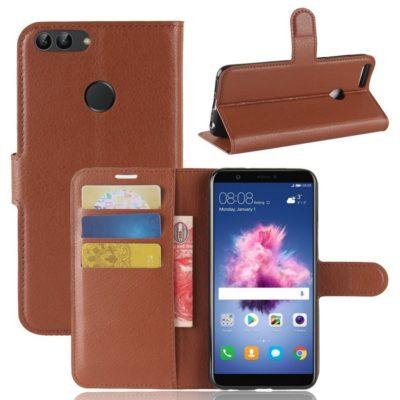 Huawei P Smart Lompakkokotelo Ruskea