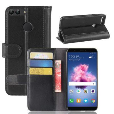 Huawei P Smart Nahkakotelo Musta