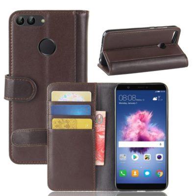 Huawei P Smart Nahkakotelo Ruskea
