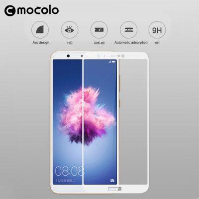 Huawei P Smart Täysin Peittävä Panssarilasi Valkoinen