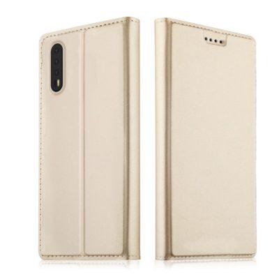 Huawei P20 Kannellinen Suojakotelo Kulta