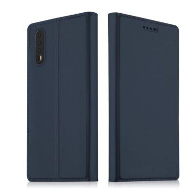 Huawei P20 Kannellinen Suojakotelo Tummansininen