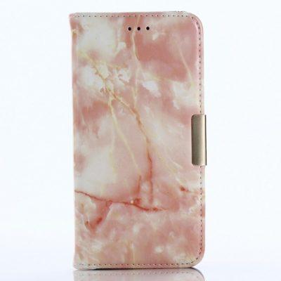 Samsung Galaxy A8 (2018) Kotelo Marmori Vaaleanpunainen