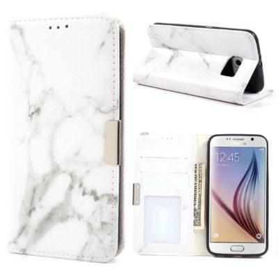 Samsung Galaxy S6 Suojakotelo Marmori Valkoinen