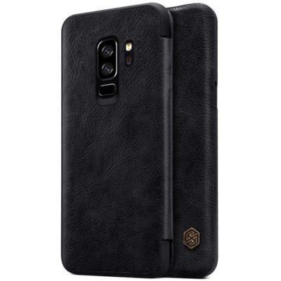 Samsung Galaxy S9+ Kotelo Nillkin Qin Musta