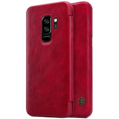 Samsung Galaxy S9+ Kotelo Nillkin Qin Punainen