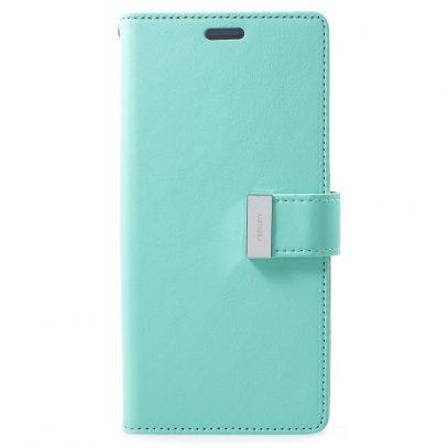 Samsung Galaxy S9+ Kotelo Rich Diary Turkoosi
