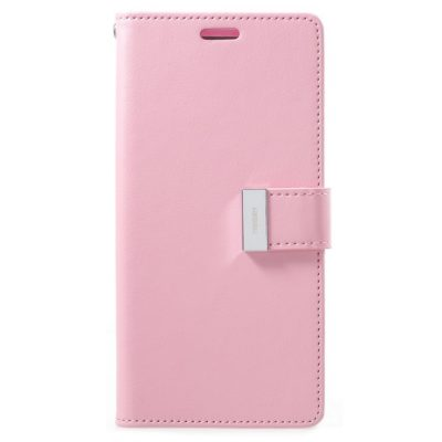Samsung Galaxy S9+ Kotelo Rich Diary Vaaleanpunainen
