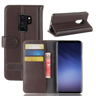 Samsung Galaxy S9+ Suojakotelo Ruskea Nahka