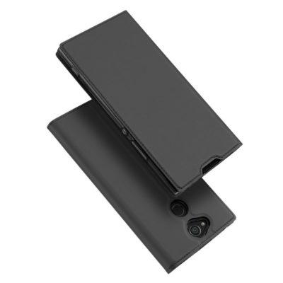 Sony Xperia XA2 Kotelo Dux Ducis Tummanharmaa