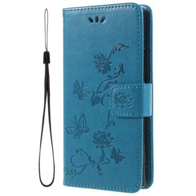Sony Xperia XA2 Suojakotelo Kukka Sininen