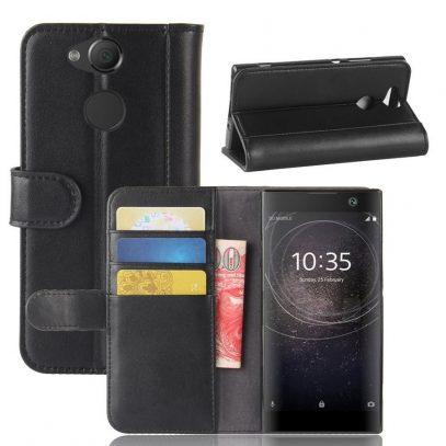 Sony Xperia XA2 Suojakotelo Musta Nahka