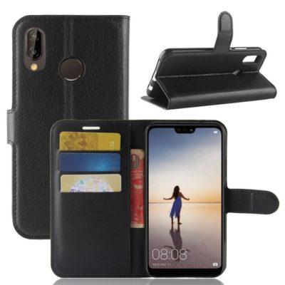 Huawei P20 Lite Lompakkokotelo Musta