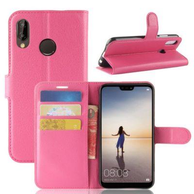 Huawei P20 Lite Lompakkokotelo Pinkki