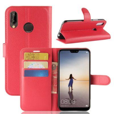 Huawei P20 Lite Lompakkokotelo Punainen