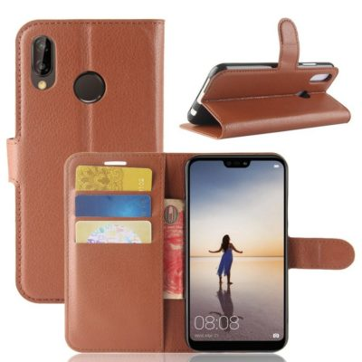 Huawei P20 Lite Lompakkokotelo Ruskea