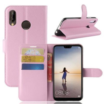 Huawei P20 Lite Lompakkokotelo Vaaleanpunainen