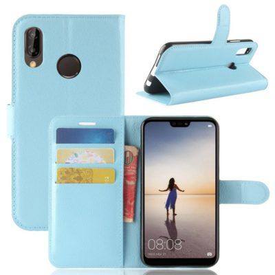 Huawei P20 Lite Lompakkokotelo Vaaleansininen