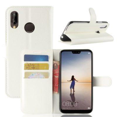 Huawei P20 Lite Lompakkokotelo Valkoinen
