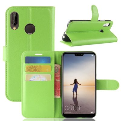 Huawei P20 Lite Lompakkokotelo Vihreä