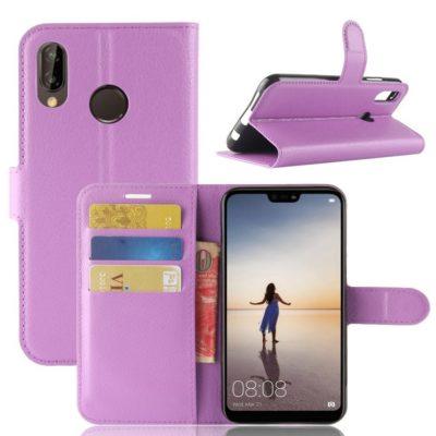 Huawei P20 Lite Lompakkokotelo Violetti