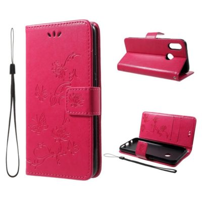 Huawei P20 Lite Suojakotelo Kukka Pinkki