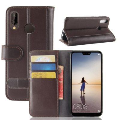 Huawei P20 Lite Suojakotelo Ruskea Nahka