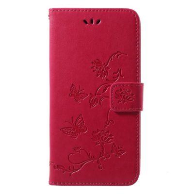 Huawei P20 Lompakkokotelo Kukka Pinkki