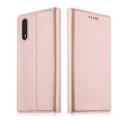 Huawei P20 Pro Kannellinen Suojakotelo Ruusukulta
