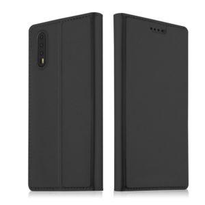 Huawei P20 Pro Kannellinen Suojakotelo Tummanharmaa